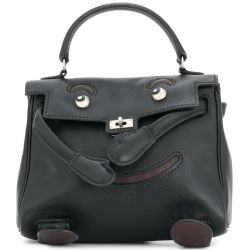 Hermes Kelly Black Doll Bag