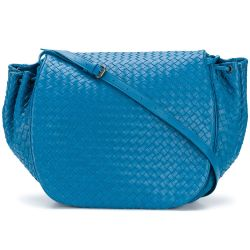 Bottega Peacock Blue Cross Bag