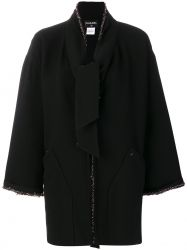 Chanel Beaded Black Coat