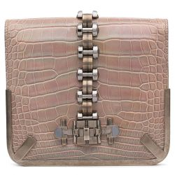 Balenciaga Pearlescent Crocodile Clutch