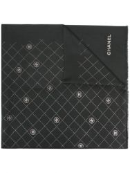 Chanel Charcoal Wool Scarf