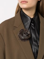 Chanel Camellia Brown Brooch