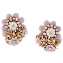Vintage 1950s Stanley Hagler Floral Earrings