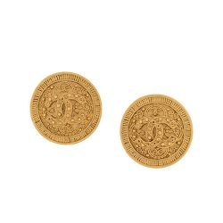 Vintage Chanel Gold Logo Earrings