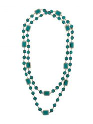 Chanel Green Crystal Sautoir Necklace