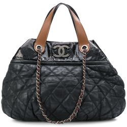 Chanel Gunmetal Grey Coco Cocoon Tote Bag