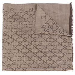 Gucci Brown Monogram Scarf