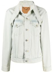 Balenciaga Pointed Collar Denim Jacket