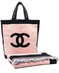 Chanel Beach Set in Pink & Black