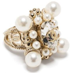Chanel CC Pearl Ring