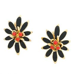 Vintage 1960s Clip On Earrings