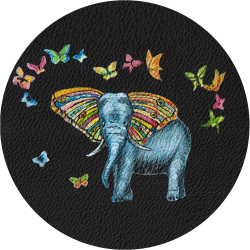 Bag Customisation Elephant and Butterflies