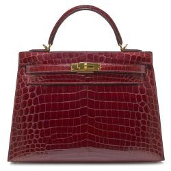Hermès Crocodile Kelly 32 Rouge