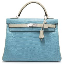 Hermes Alligator Paon & Craie Kelly