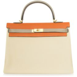 Hermes Tri-Colour Kelly Bag