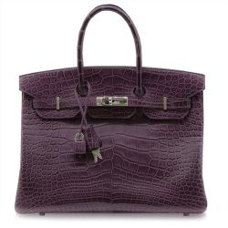 Hermès Amethyst Alligator 35cm Birkin Bag