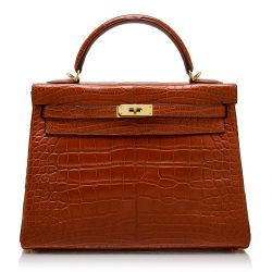 Hermès Rouge H Matte Alligator 32cm Kelly Bag