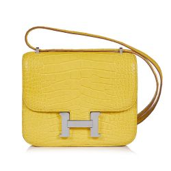 Hermes Yellow Mimosa Exotic Constance Bag