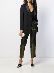 Lanvin Metallic Gold Trousers