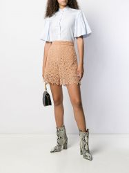 Chloe Terracotta Embroidered Shorts