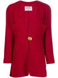 Chanel Red Wool Jacket SOLD
