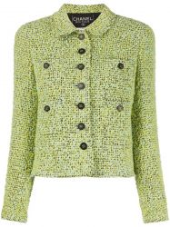 Chanel Green Bouclé Tweed Jacket SOLD
