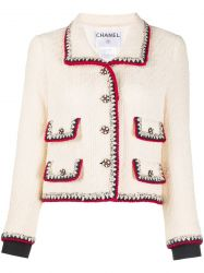 Chanel Cream Wool Jacket