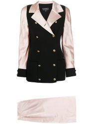 Chanel Black & Pink Skirt Suit
