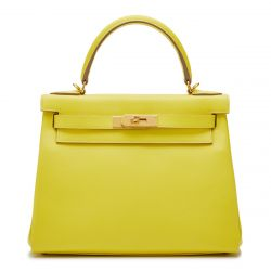 Hermès Kelly 28 Lime Evercolor Y