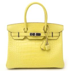Hermes Birkin 30 Mimosa Alligator Bag