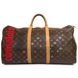 Louis Vuitton Customized 'Never Complain, Never Explain' Keepall 45 Bag