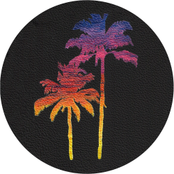 Bag Customisation Miami Palm Trees