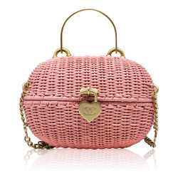 Chanel Pink Basket Heart Lock Bag