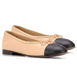 Chanel Beige Ballerina Pumps SOLD