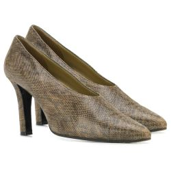 Yves Saint Laurent Snake Textured Pumps