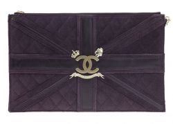 Chanel Purple Suede Union Jack