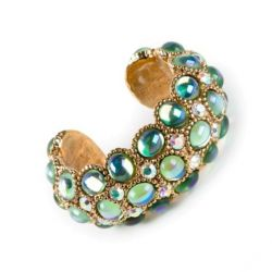 Claire Deve Vintage Crystal Embellished Cuff