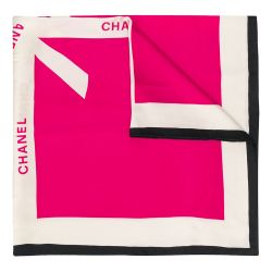Chanel Logo Ribbon Print Scarf