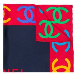 Chanel Multi CC Print Silk Scarf