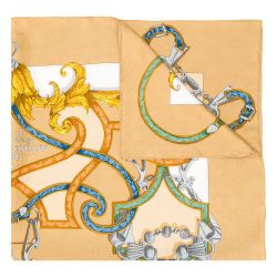 Hermès 'L'Instrvction dv Roy en l'Exercice de Monter a Cheval' Silk Scarf