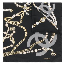 Chanel Jewellery Print Silk Scarf
