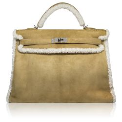 Limited Edition Hermès 40cm 'Teddy' Kelly Bag SOLD