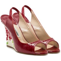 Manolo Blahnik Red Sling Backs