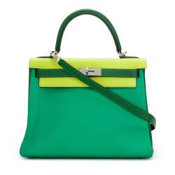 Tri Colour Hermes Green Kelly