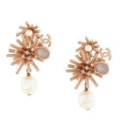 Chanel Rose Gold Abstract Earrings