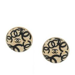Chanel Clip-On Logo Earrings