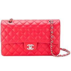 Chanel 2.55 Red Leather Flap Shoulder Bag