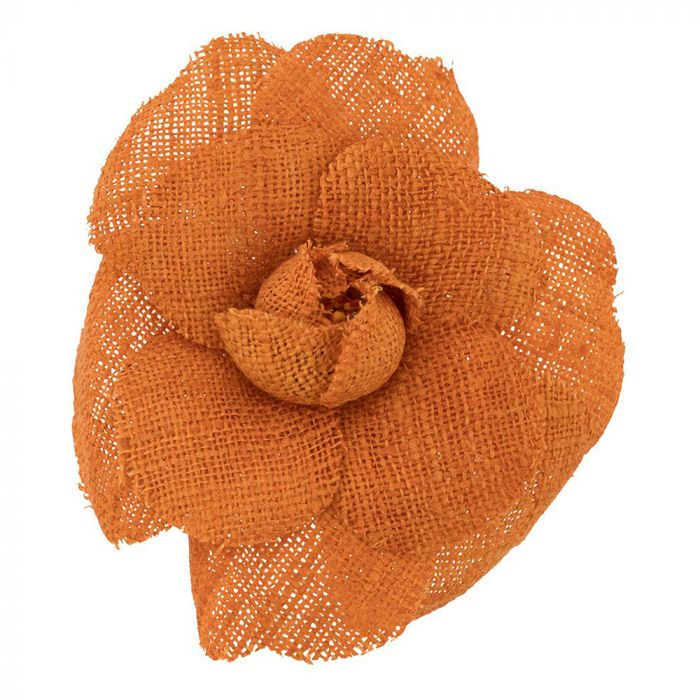 Chanel Orange Camelia Brooch SOLD