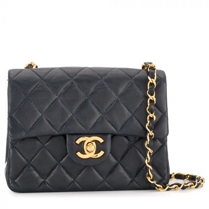 Chanel Navy Leather Crossbody Bag SOLD