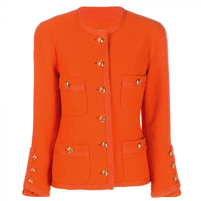 Chanel Orange Wool Jacket